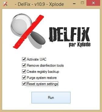 DelFix: Quitar las herramientas de desinfección del PC con Windows