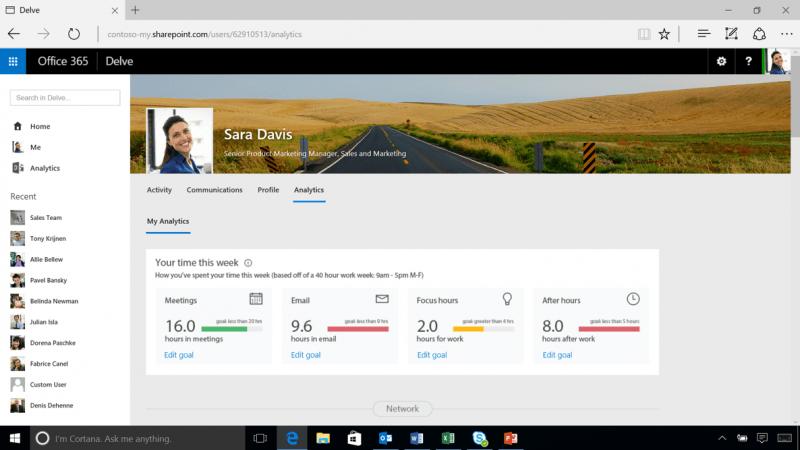Análisis de Delve: Un nuevo y potente complemento para Office 365 1