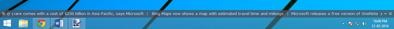 Lea los canales RSS directamente en su escritorio de Windows usando el Desktop Ticker 1
