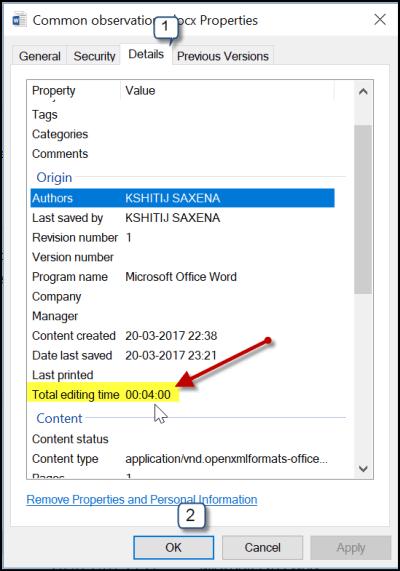 Cómo realizar un seguimiento del tiempo total de edición empleado en un documento de Microsoft Word