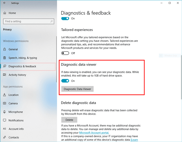 Cómo habilitar y utilizar Diagnostic Data Viewer en Windows 10 1