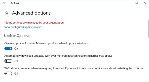 Diferentes tipos de actualizaciones de Windows