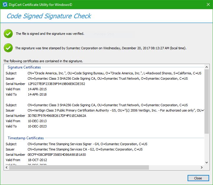 Cómo comprobar la firma digital de un programa en Windows 10/8/7