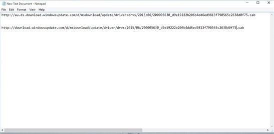 Cómo identificar la URL directa del controlador de Windows Update en Windows 10