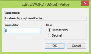 Habilitar, deshabilitar el almacenamiento en caché automático de proxy en Internet Explorer