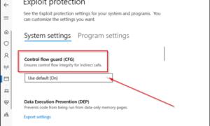 Qué es Control Flow Guard en Windows 10 - Cómo activarlo o desactivarlo