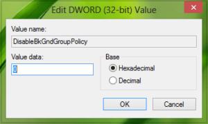 Cómo desactivar o desactivar la actualización de la directiva de grupo mientras el equipo está en uso
