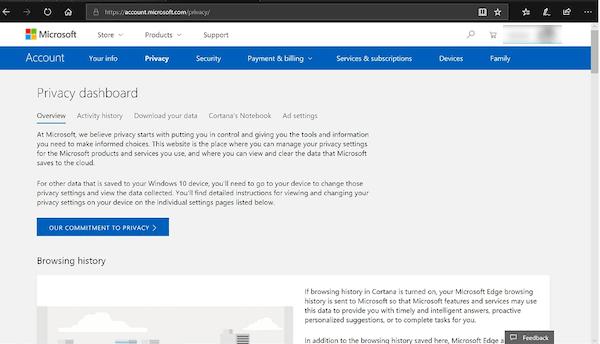 Cómo deshabilitar el entintado y la escritura de recopilación de datos en Windows 10