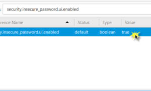 Cómo desactivar la contraseña Insegura Solicitud de inicio de sesión en Firefox