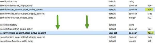 Cómo deshabilitar el contenido mixto en Firefox