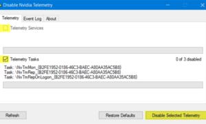 Desactiva la telemetría NVIDIA en un PC con Windows y deja de realizar el seguimiento.