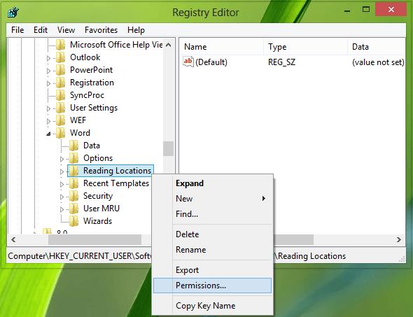 Desactivar la función Retomar donde lo dejó en Microsoft Office 2