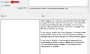 Cómo deshabilitar la experiencia de configuración de privacidad al iniciar sesión en Windows 10
