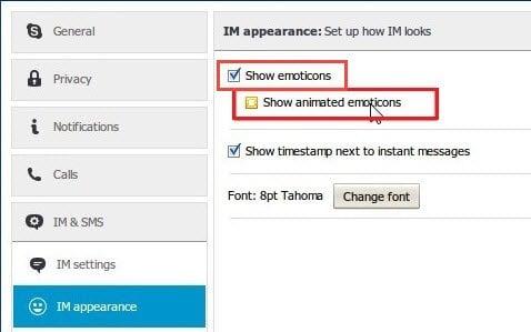 Cómo apagar o deshabilitar los emoticonos de Skype en un PC con Windows