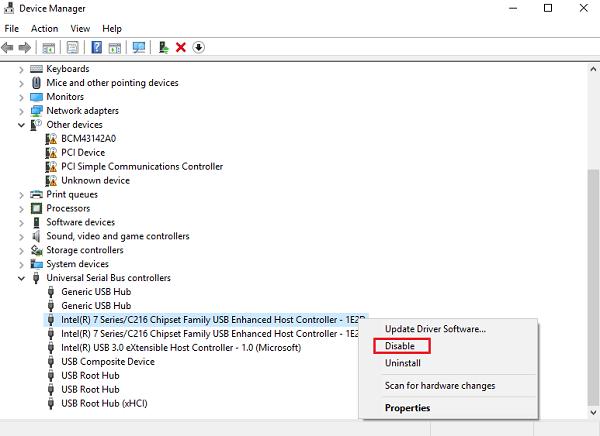 El ordenador con Windows se apaga cuando el dispositivo USB está conectado