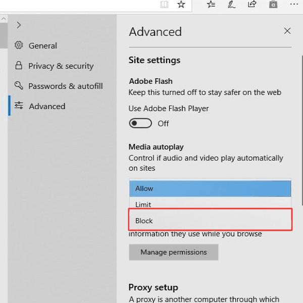 Cómo evitar que los vídeos se reproduzcan automáticamente en el navegador Microsoft Edge 1