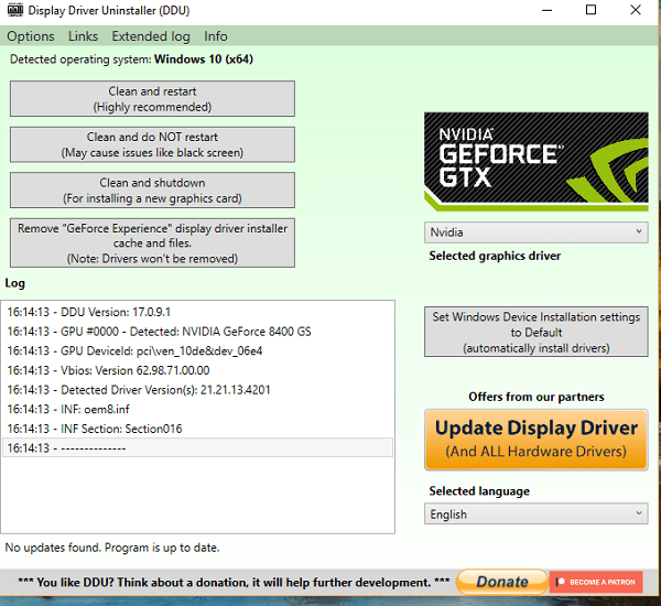 No se pudo crear un error de dispositivo gráfico en Windows 10 2