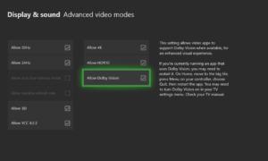 Cómo activar Dolby Vision en Xbox One