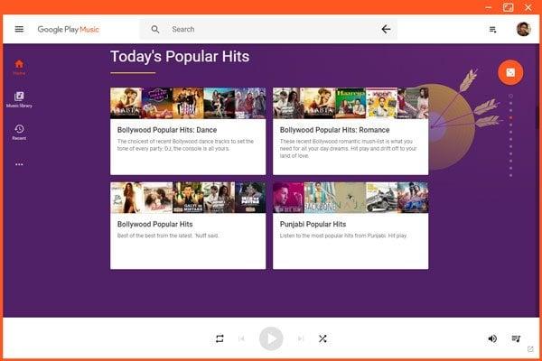 Descargar Google Play Music Desktop Player para Windows 10/8/7