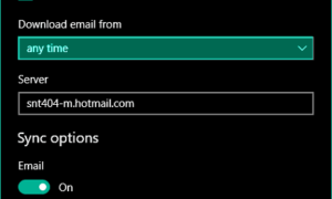 La aplicación de Windows 10 Mail no se está sincronizando