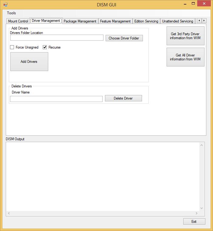 DISM GUI es una interfaz gráfica para la Utilidad de Línea de Comandos de DISM