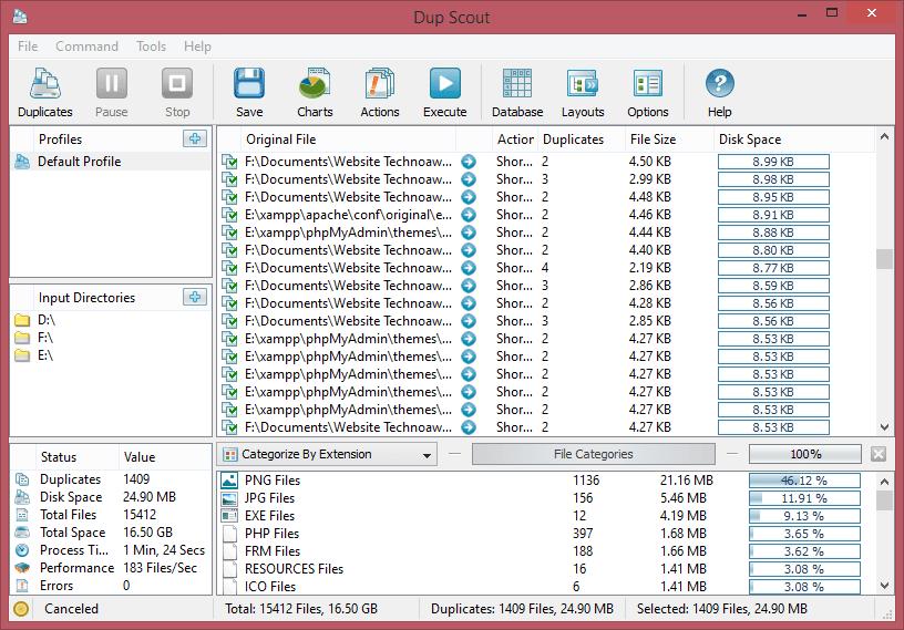 Software gratuito de búsqueda y eliminación de archivos duplicados para Windows 10 7
