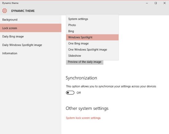 Establecer imágenes Bing y Spotlight como fondo o pantalla de bloqueo en Windows 10, automáticamente 2