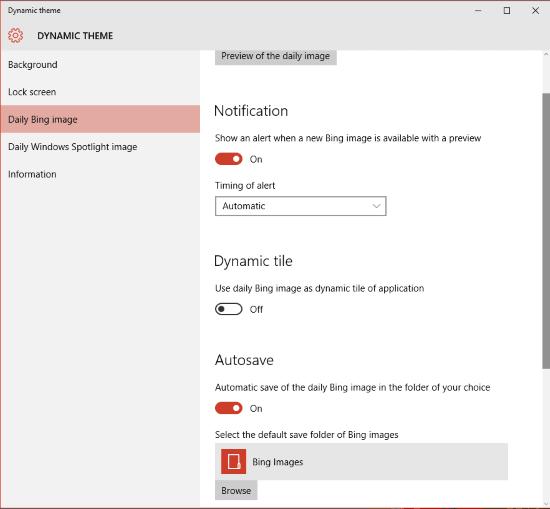Establecer imágenes Bing y Spotlight como fondo o pantalla de bloqueo en Windows 10, automáticamente 4