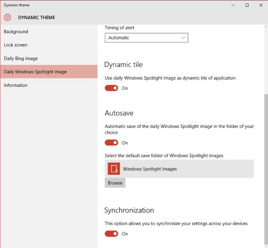 Establecer imágenes Bing y Spotlight como fondo o pantalla de bloqueo en Windows 10, automáticamente 7