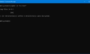 Cómo descifrar los archivos y carpetas encriptados EFS en Windows 10