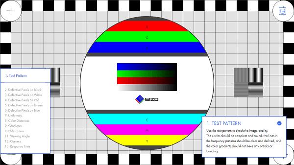 Monitor de ordenador de prueba para juegos y manejo de movimiento