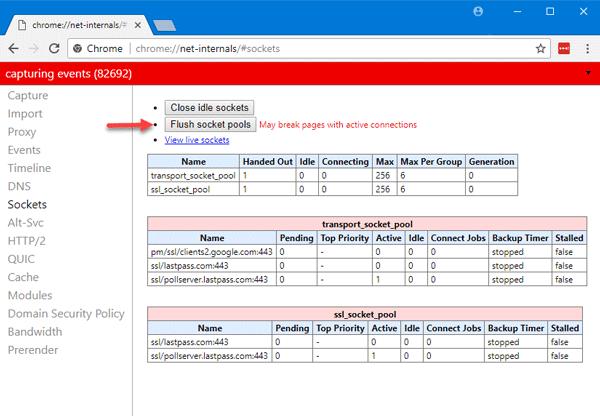 Corrección del error ERR_SPDY_PROTOCOL_ERROR en el navegador Google Chrome