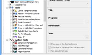 El programa gratuito Easy Context Menu le permite añadir un programa o un icono al menú contextual.
