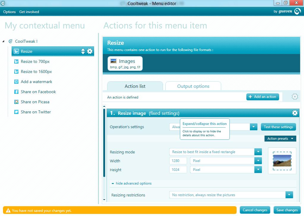 CoolTweak: Editar imágenes utilizando el menú contextual de Windows 1