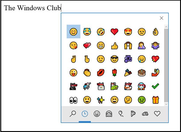 Cómo usar, deshabilitar y habilitar el Panel Emoji en Windows 10 1