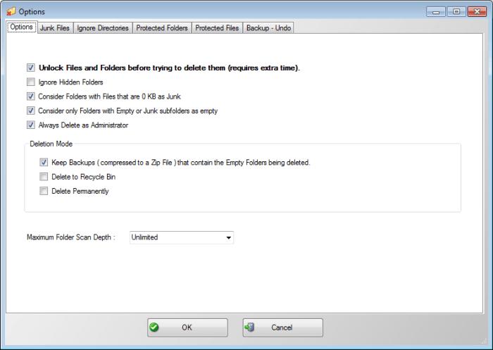 Limpiador de carpetas vacías: Elimina carpetas vacías y archivos vacíos en Windows 3