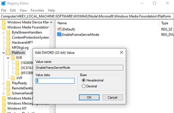 Windows 10 no puede iniciar la cámara, 0xa00f429f 2