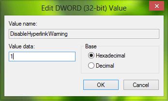 Habilitar o deshabilitar advertencias de hipervínculos para programas de Office