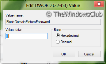 Activar o desactivar el inicio de sesión con contraseña de imagen en Windows 8 3