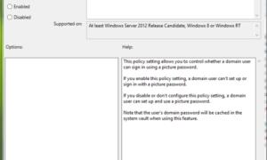 Activar o desactivar el inicio de sesión con contraseña de imagen en Windows 8