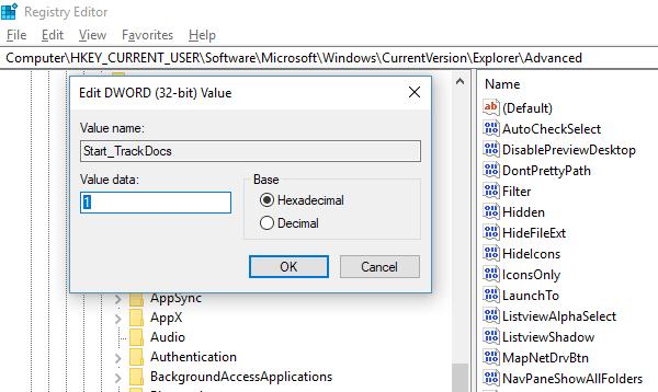 El comando de ejecución no guarda el Historial en Windows 10
