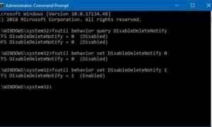 Cómo comprobar, desactivar y activar la compatibilidad con TRIM en Windows 10