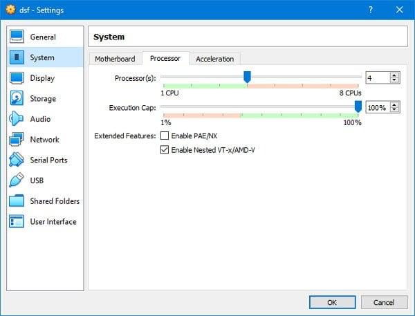 Cómo habilitar Windows Sandbox en el SO huésped de VirtualBox