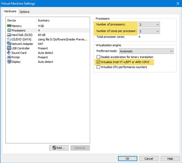 Cómo habilitar el entorno de pruebas de Windows en VMware Workstation 2