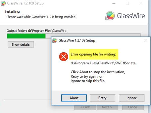 Corregido Error al abrir el archivo para escribir en Windows 10