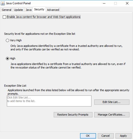 No se ha completado la instalación o actualización de Java - Código de error 1603