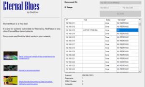 Escáner de rescate Eternal Blues para WannaCry & NotPetya