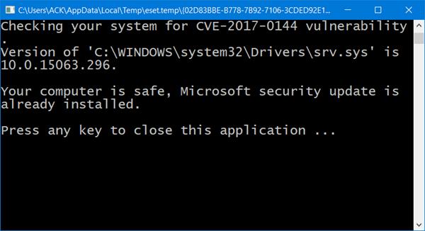 EternalBlue Vulnerability Checker comprueba si su Windows es vulnerable