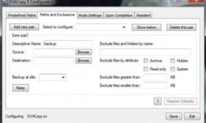 Copia de seguridad de versiones de archivos recientemente modificadas con EvaCopy