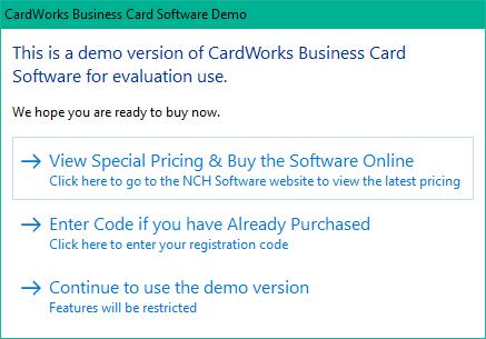 NCH CardWorks es un software gratuito de creación de tarjetas de visita